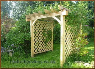 Hand crafted Trellis sided Pergola, Tintagel North Cornwall