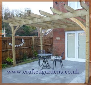 Hand crafted Pergola, Tintagel North cornwall