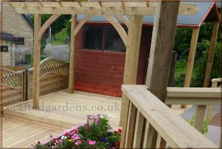 Woodcraft work for decking and pergola's Tintagel North cornwall