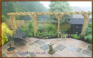 Garden woodwork and Paving Tintagel North Cornwall